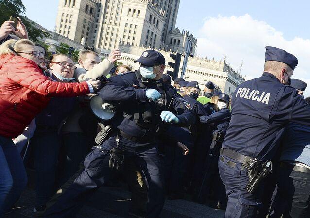 Protesty przedsiębiorców w Warszawie