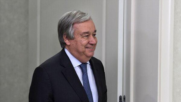 Sekretarz generalny ONZ António Guterres. - Sputnik Polska