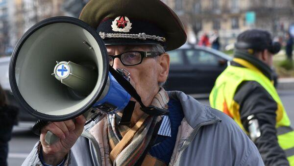 Akcja żółtych kamizelek w Paryżu. - Sputnik Polska