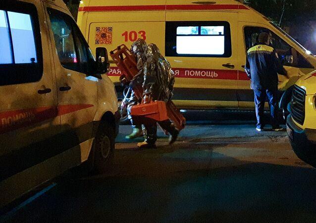 Pożar w szpitalu w Moskwie