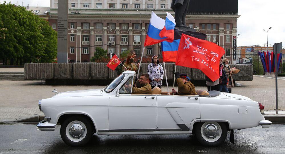 """Akcja """"Rajd Wielkiego Zwycięstwa"""" w Doniecku"""