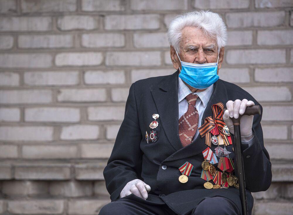 Weteran Wielkiej Wojny Ojczyźnianej w Biszkeku