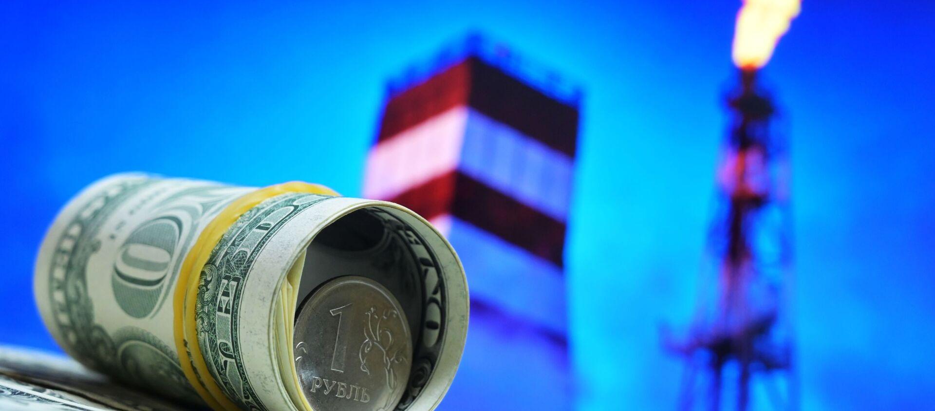 Dolar, rubel, ropa - Sputnik Polska, 1920, 05.04.2021