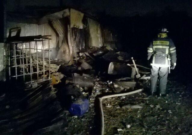 Pożar w hospicjum pod Moskwą