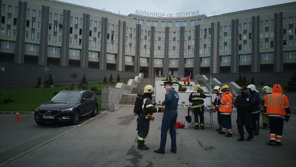 Pożar w Petersburgu - Sputnik Polska