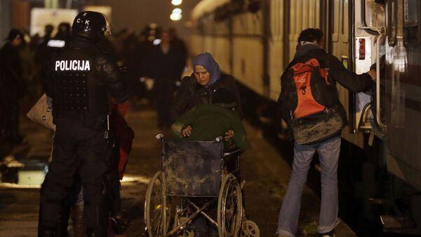 Imigranci w Słowenii - Sputnik Polska