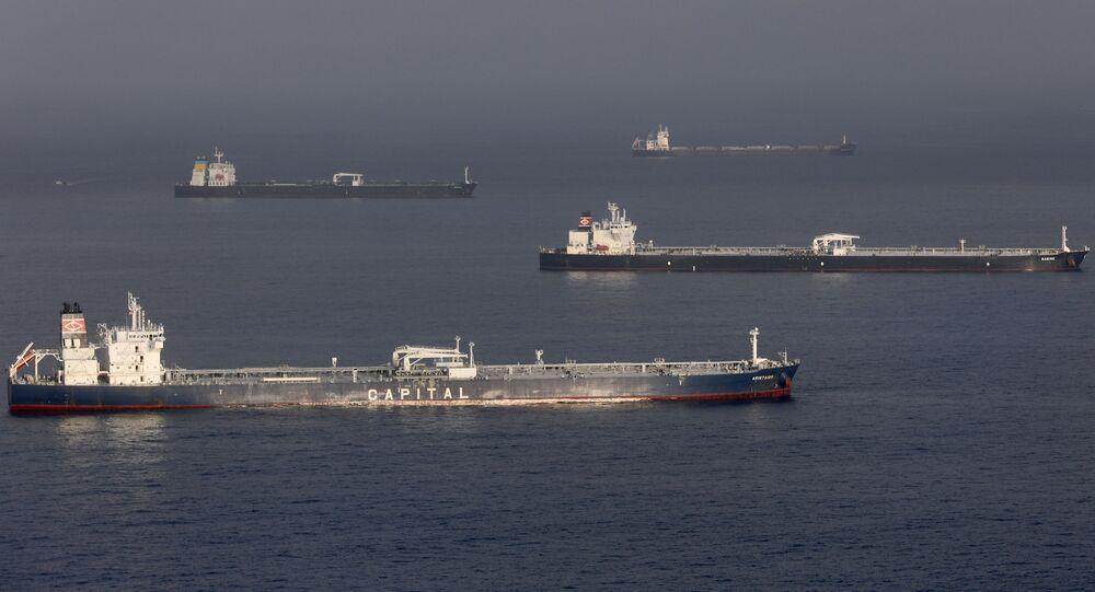 Tankowce ropy naftowej u wybrzeży Kalifornii
