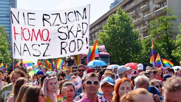 Parada LGBT w Warszawie - Sputnik Polska