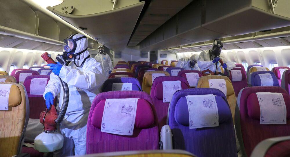 Dezynfekcja samolotu