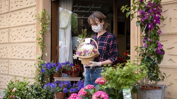 Kwiaciarnia w Turynie, Włochy - Sputnik Polska