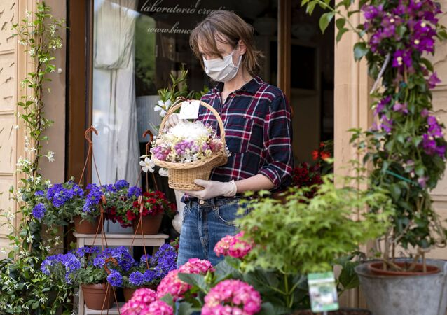 Kwiaciarnia w Turynie, Włochy