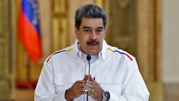 Prezydent Wenezueli Nicolas Maduro mówi o aresztowaniach po rzekomej próbie obalenia go - Sputnik Polska