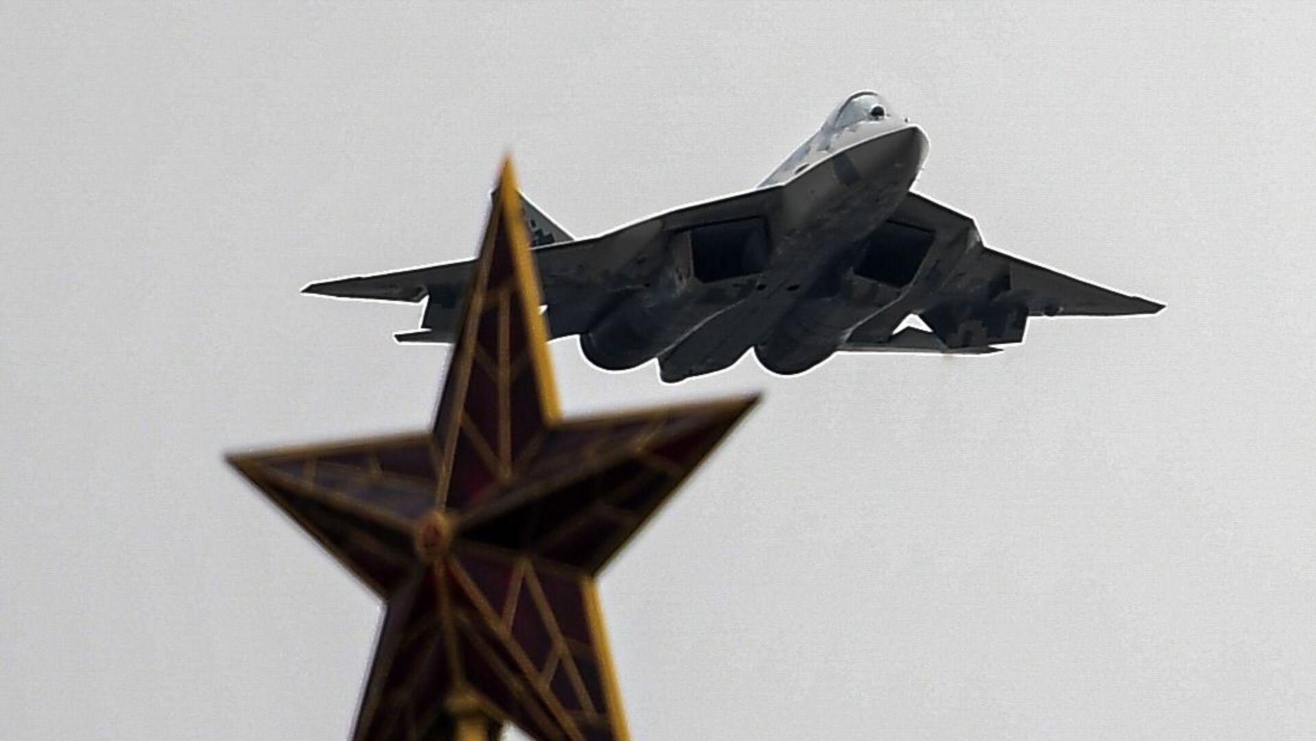 Su-57  nad Moskwą - Sputnik Polska, 1920, 08.08.2021