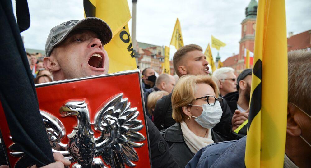 Protest przedsiębiorców w Warszawie.