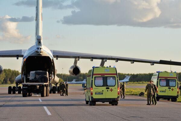 Powrót rosyjskich specjalistów wojskowych, którzy brali udział we wspieraniu Włoch w walce z koronawirusem - Sputnik Polska