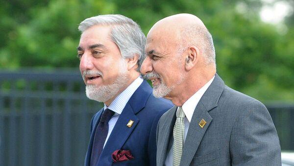 Prezydent Afganistanu Aszraf Ghani oraz były premier Abdullah Abdullah. - Sputnik Polska