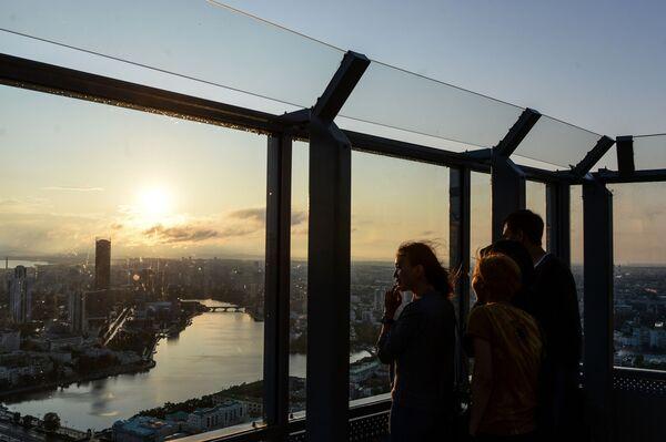Taras widokowy w centrum biznesowym w Jekaterynburgu - Sputnik Polska