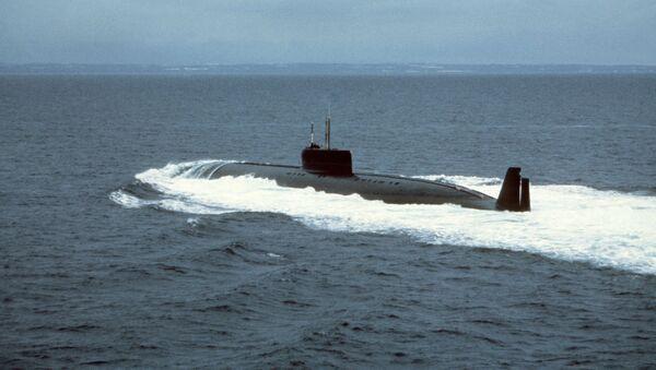 Atomowy okręt podwodny K-162 (znana również później jako K-222) podczas prób - Sputnik Polska