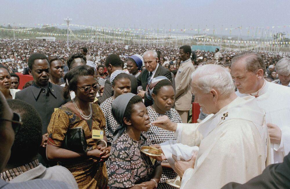 Papież Jan Paweł II w Zairze, 1985 rok