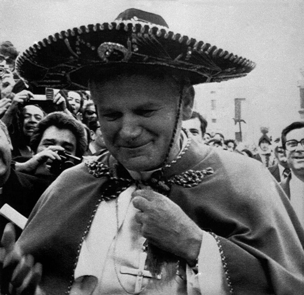 Jan Paweł II w sombrero