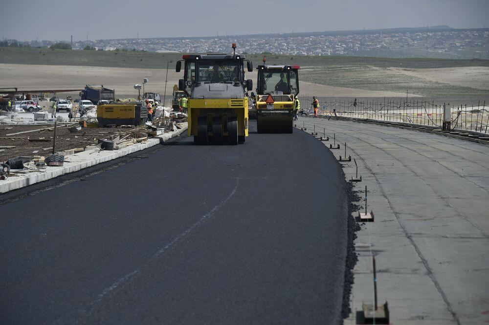 """Budowa trasy """"Tawrida"""" na półwyspie Krym"""