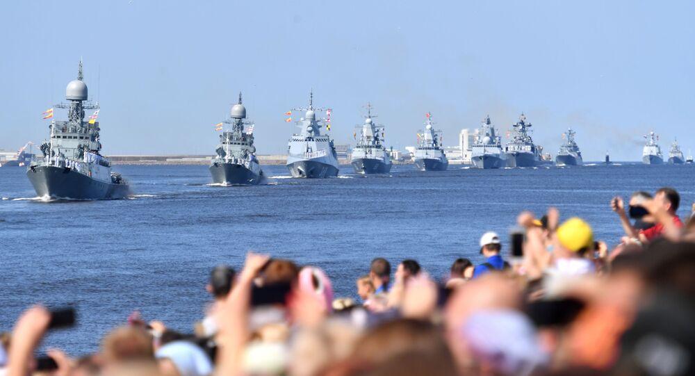 Parada Marynarki Wojennej Rosji w Kronsztadzie