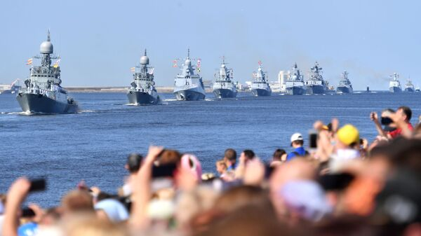 Parada Marynarki Wojennej Rosji w Kronsztadzie - Sputnik Polska