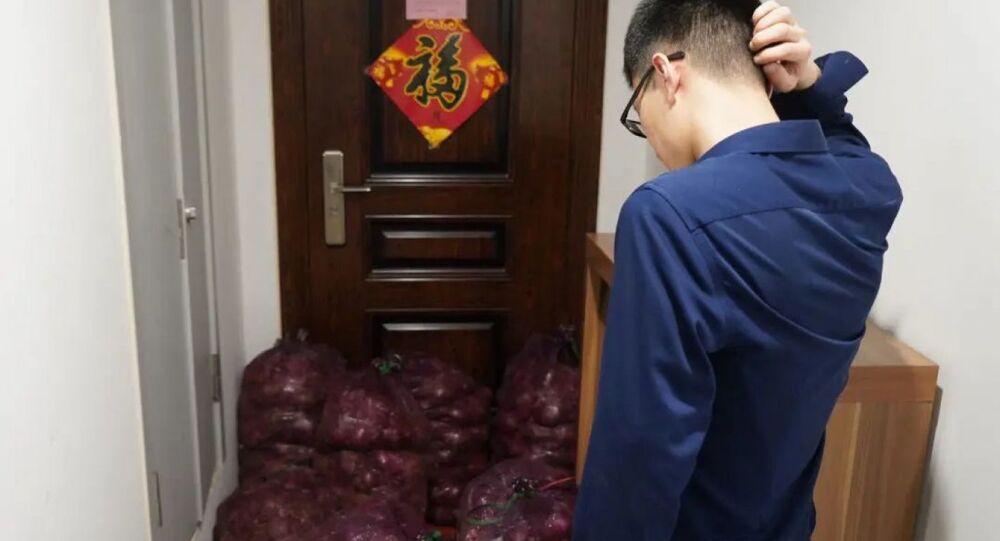 Mieszkaniec prowincji Shandong, który otrzymał tonę cebuli od byłej dziewczyny