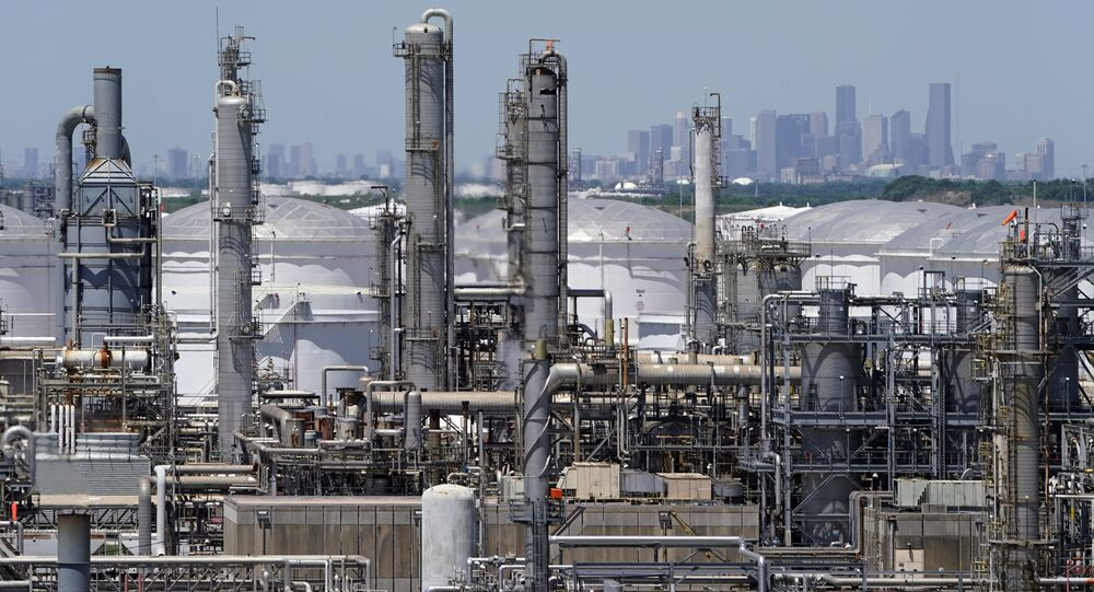 Rafineria ropy naftowej w Houston, Teksas, USA