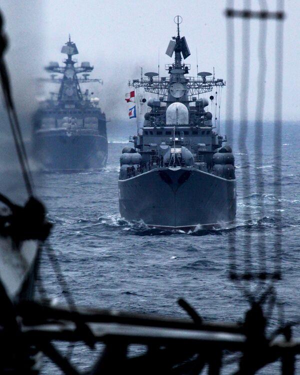"""Ćwiczenia rosyjsko-chińskie """"Morska Współpraca 2015"""" we Władywostoku - Sputnik Polska"""