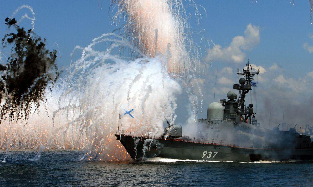 Próba parady morskiej we Władywostoku