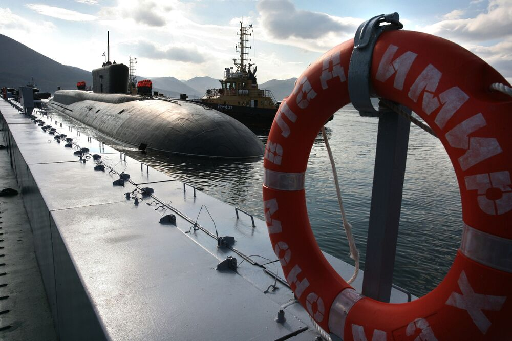 """Rosyjski okręt podwodny """"Władimir Monomach"""""""