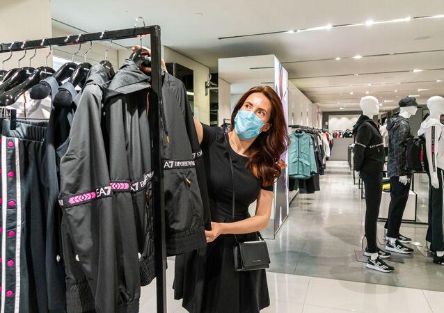 Klientka sklepu odzieżowego
