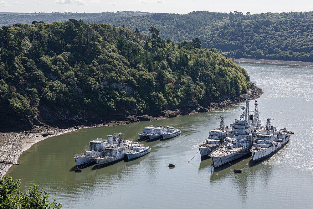 Cmentarzysko okrętów wojennych znalezione przez blogera Boba Thiessena