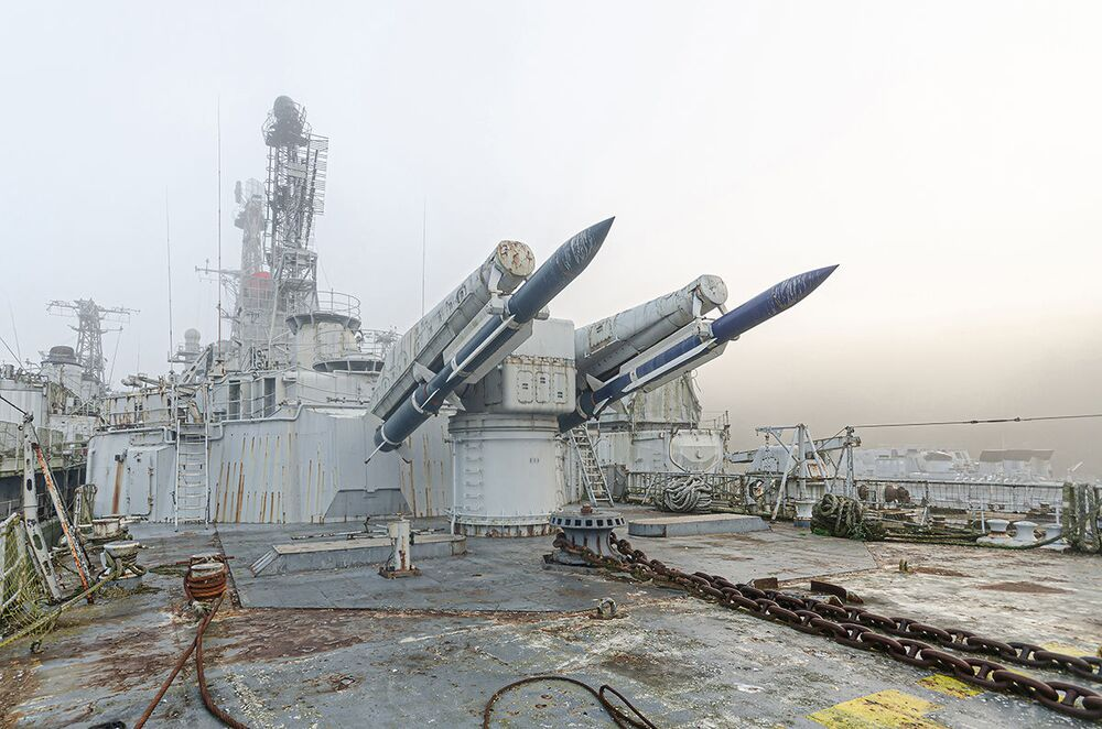 Porzucony francuski krążownik przeciwlotniczy Colbert