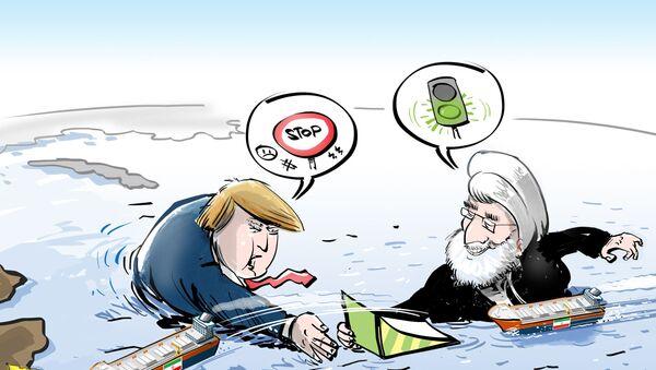 """Iran rozprawił się z paliwowym embargo tuż """"przed nosem"""" USA  - Sputnik Polska"""