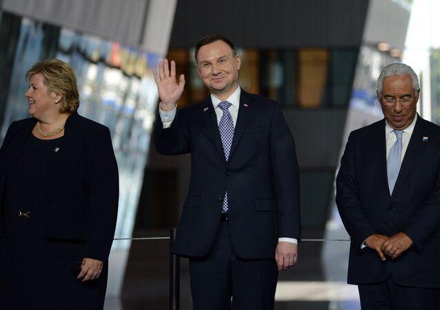 Andrzej Duda podczas szczytu w Brukseli