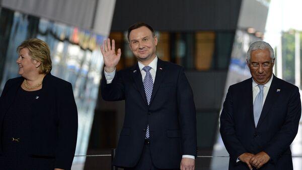 Andrzej Duda podczas szczytu w Brukseli - Sputnik Polska