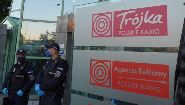 Protest pod siedzibą radiowej Trójki - Sputnik Polska