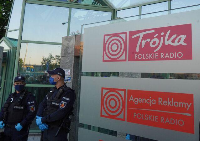 Protest pod siedzibą radiowej Trójki