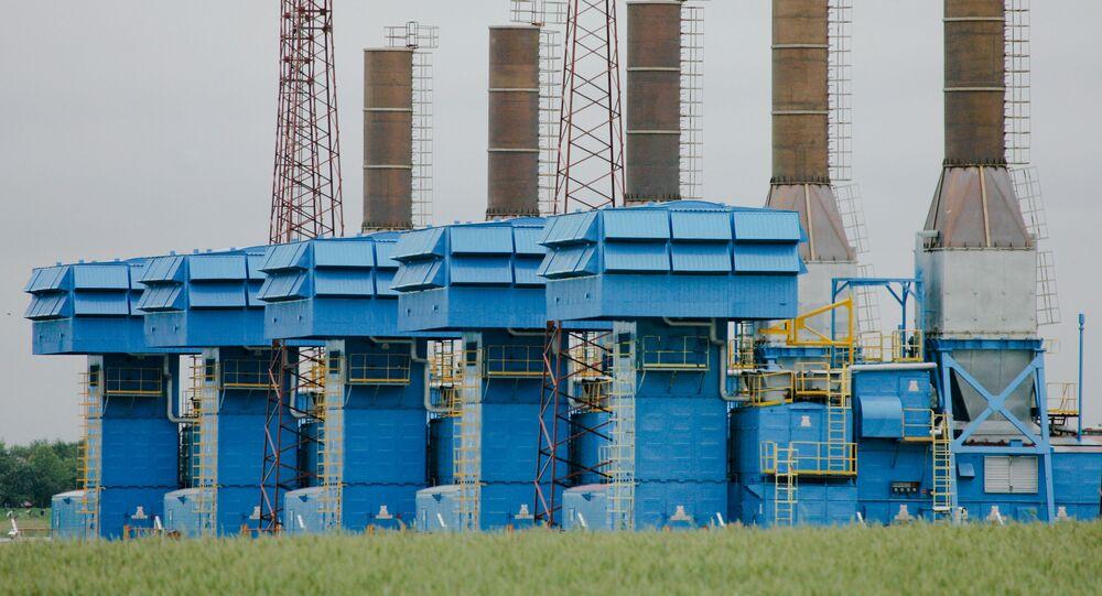 Stacja kompresji gazu Minskaja na białoruskim odcinku gazociągu Jamał-Europa