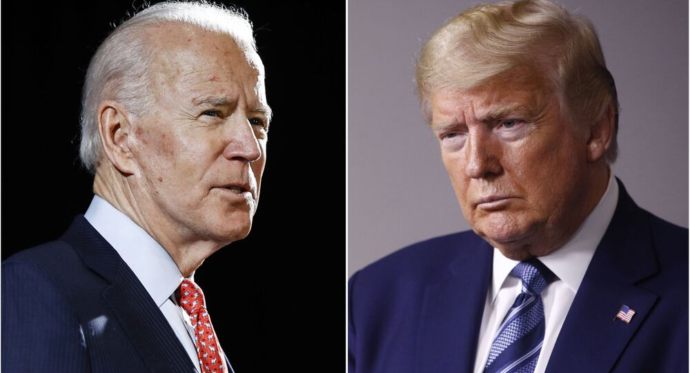 Były wiceprezydent USA Joe Biden i prezydent USA Donald Trump