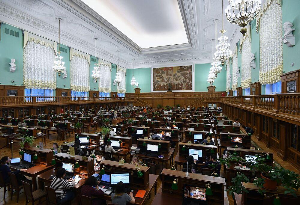 Czytelnia w Rosyjskiej Bibliotece Państwowej w Moskwie