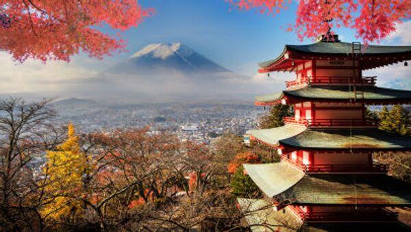 Wulkan Fudżi w Japonii. - Sputnik Polska