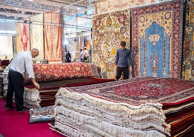 Wystawa dywanów w Teheranie
