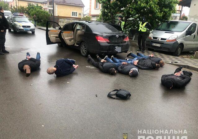 Zatrzymanie uczestników strzelaniny w Browarach na Ukrainie