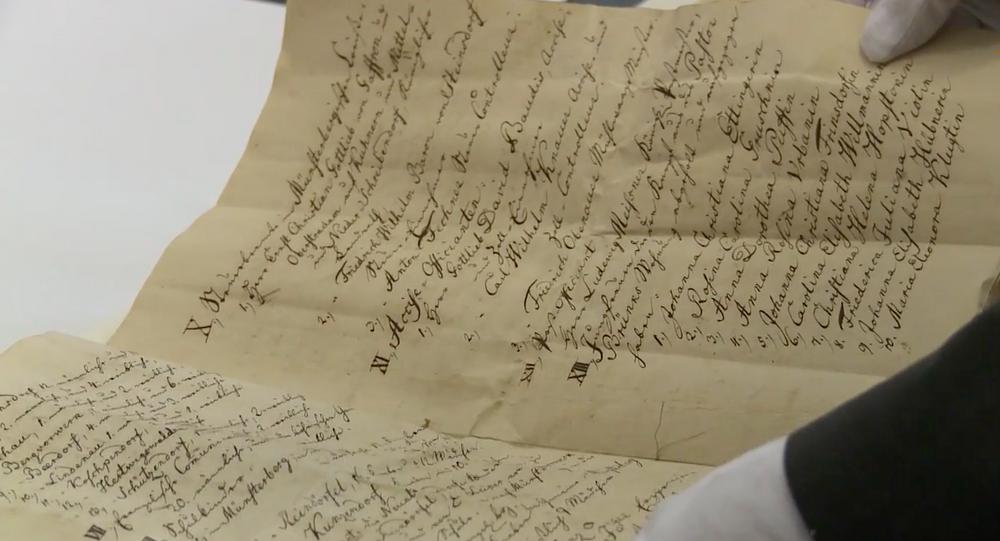 Dokument z kapsuły czasu, znalezionej w Ziębicach