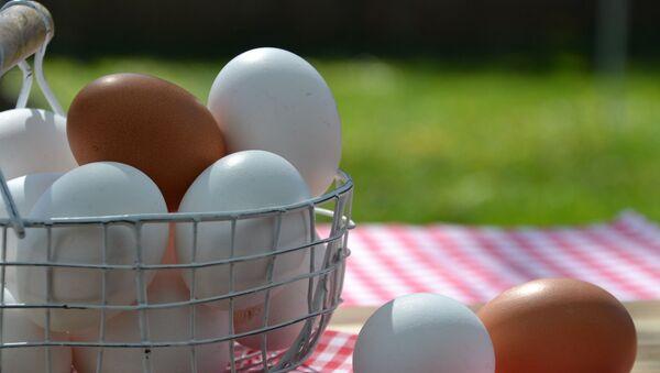 Jajka z białymi i brązowymi skorupkami - Sputnik Polska