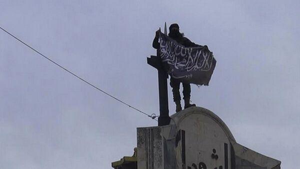 Członek organizacji terrorystycznej Dżabhat an-Nusra w Syrii - Sputnik Polska
