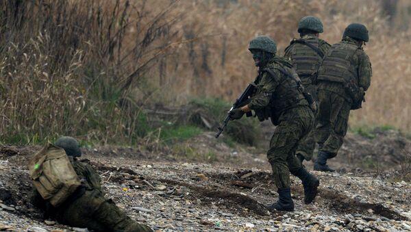 Według planu szkoleń wybrzeże zostało zajęte przez terrorystów. - Sputnik Polska